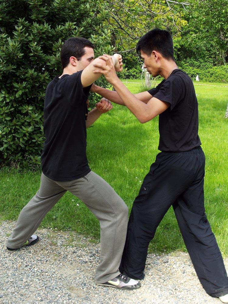 Con i ragazzi del Corso di Kung Fu a Mathi